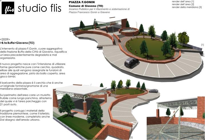 Progetto Di Arredo Urbano.Piazza F Gonin A Giaveno